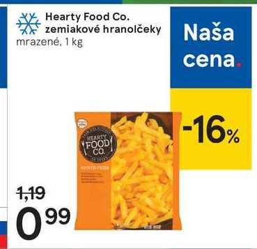 Hearty Food Co. zemiakové hranolčeky, 1 kg
