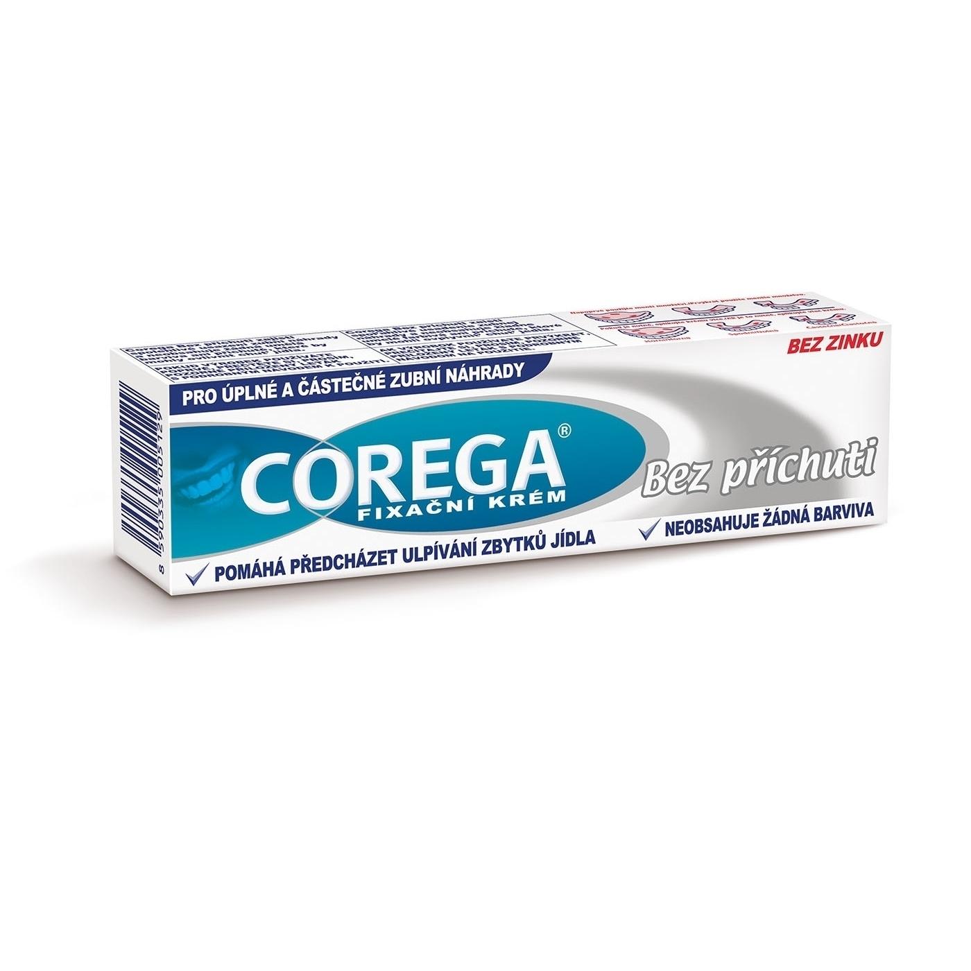 Fixačný krém na zubné náhrady Corega