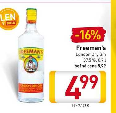 Freeman's London Dry Gin  0,7 l