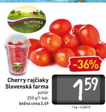 Cherry rajčiaky Slovenská farma 250 g
