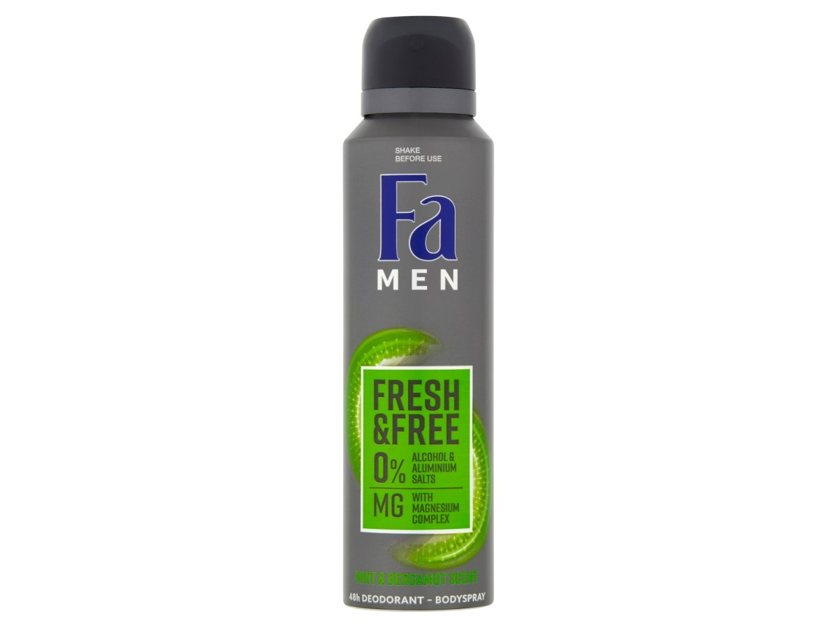Fa Men Fresh&Free Mint & Bergamot deodorant sprej pánsky 1x1 ks