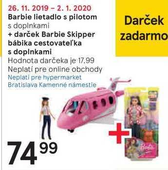 Barbie lietadlo s pilotom