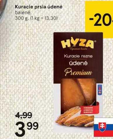 Kuracie prsia údené, 300 g