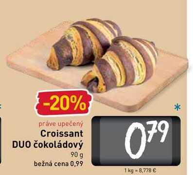 Croissant DUO čokoládový  90 g