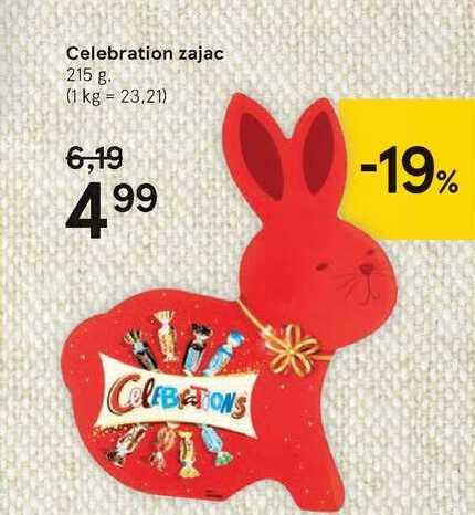 Celebration zajac, 215 g