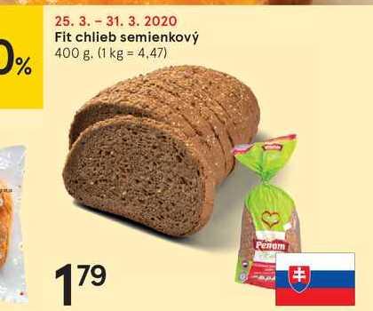 Fit chlieb semienkový, 400 g