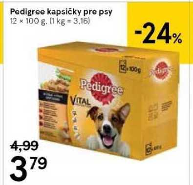 Pedigree kapsičky pre psy, 12 x 100 g