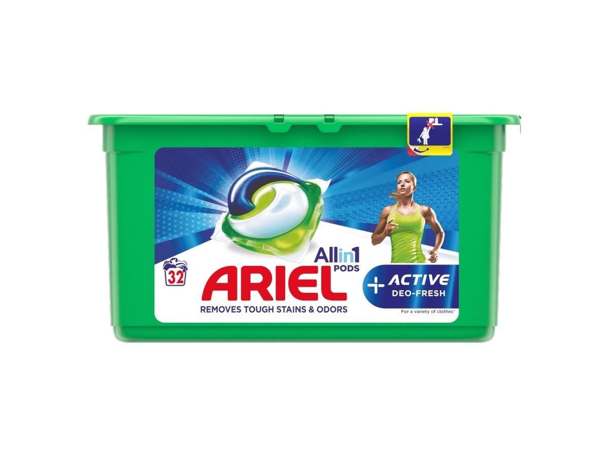 Ariel Active gélové kapsuly 32 praní 1x1ks