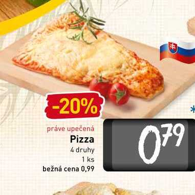Pizza 4 druhy 1 ks