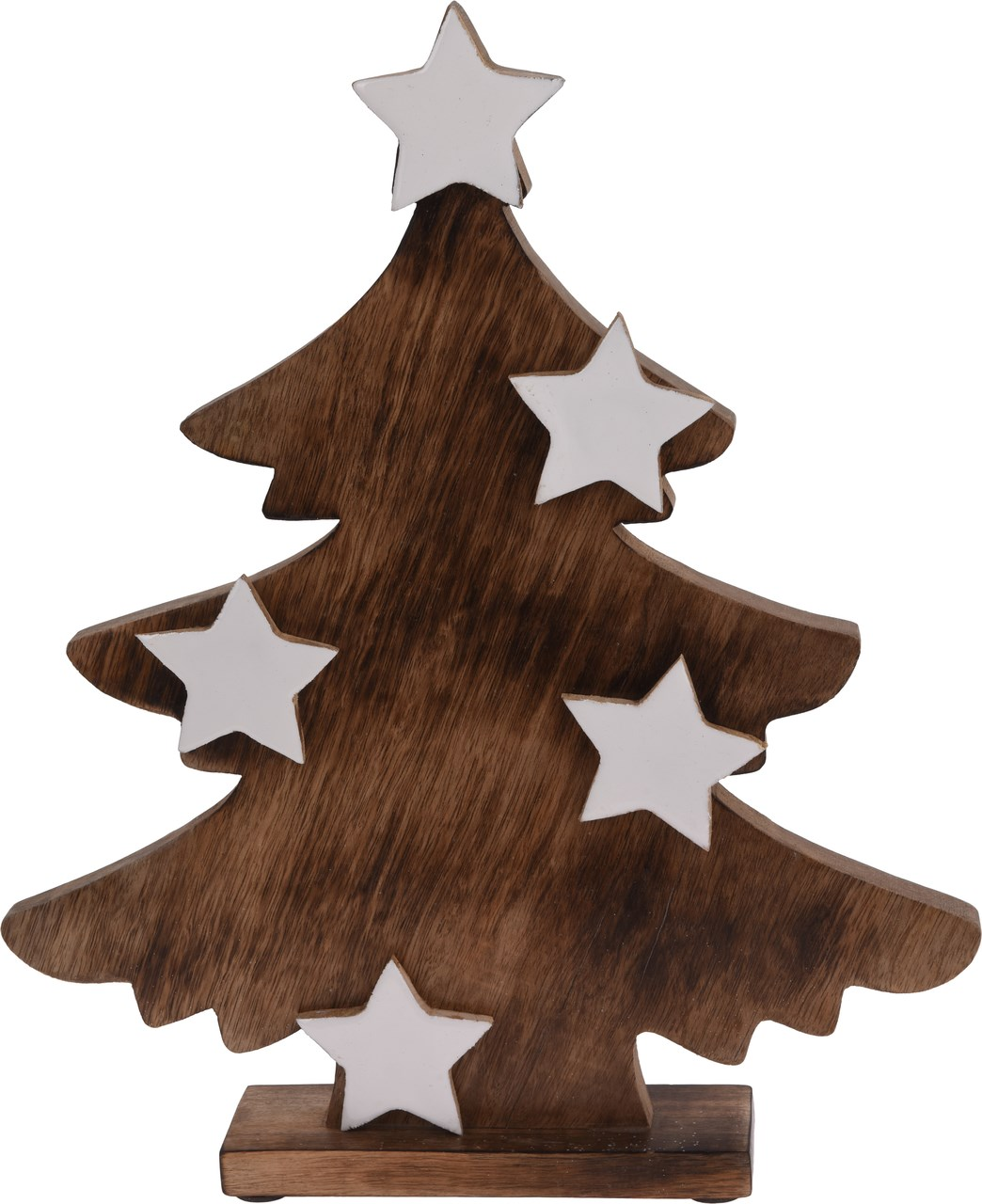 Stromček s bielymi hviezdami 39,5 cm 1ks