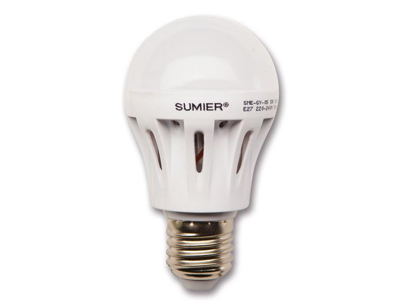 LED žiarovka 5W E27, 400lm, teplá biela