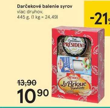 Darčekové balenie syrov, 445 g