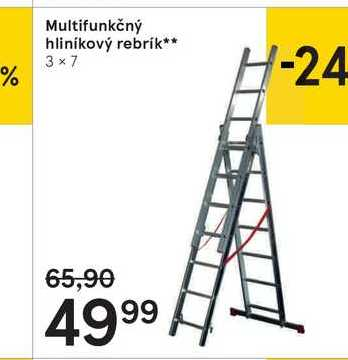 Multifunkčný hliníkový rebrík