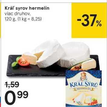Kráľ syrov hermelín, 120 g