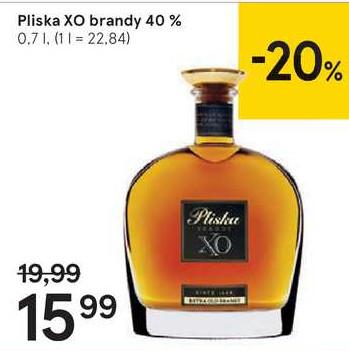 Pliska XO brandy 40%, 0,7 l