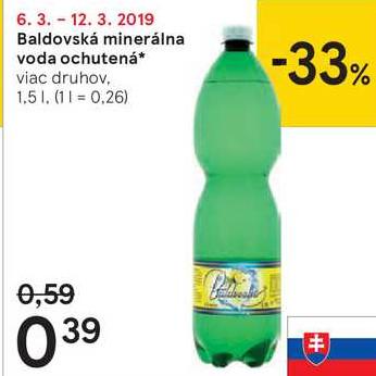 Baldovská minerálna voda ochutená 1,5 l