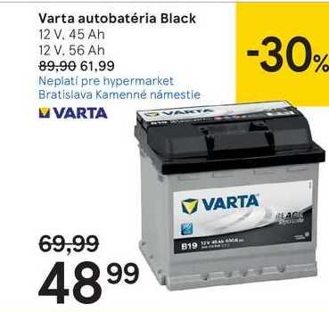 Varta autobatéria Black