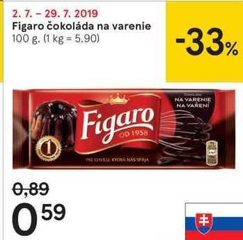 Figaro čokoláda na varenie, 100 g