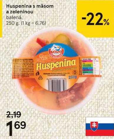 Huspenina s masom a zeleninou, 250 g