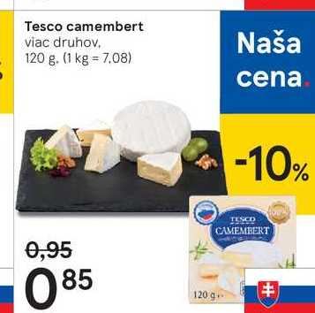 Tesco camembert, 120 g