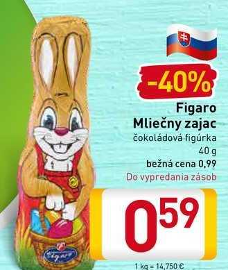 Figaro Mliečny zajac 40 g
