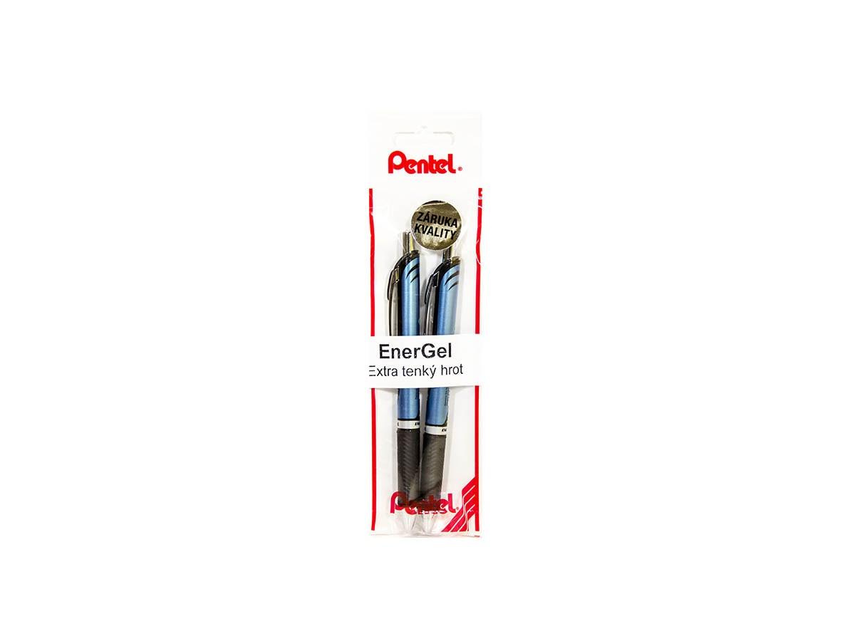 Energel new 0,5mm čierne Pentel 2ks