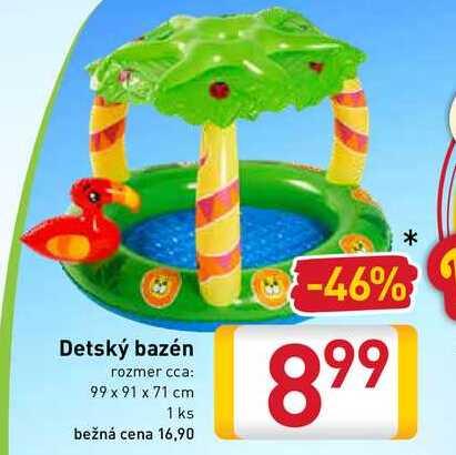 Detský bazén rozmer cca: 99 x 91 x 71 cm 1 ks