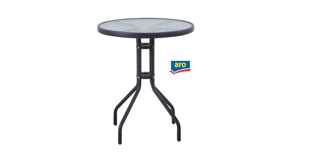 Stôl Bistro metal kov,sklo 60x70cm ARO 1ks