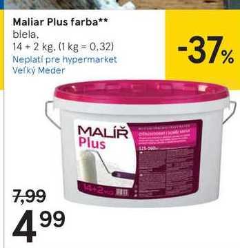 Maliar Plus farba, 14 + 2 kg