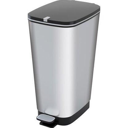 Nášľapný odpadkový kôš 42 l strieborný