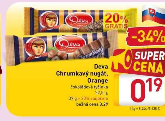 Deva Chrumkavý nugát 22,5 g