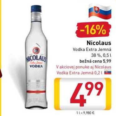 St. Nicolaus vodka  0,5 l