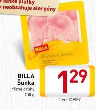 Billa Šunka 100 g