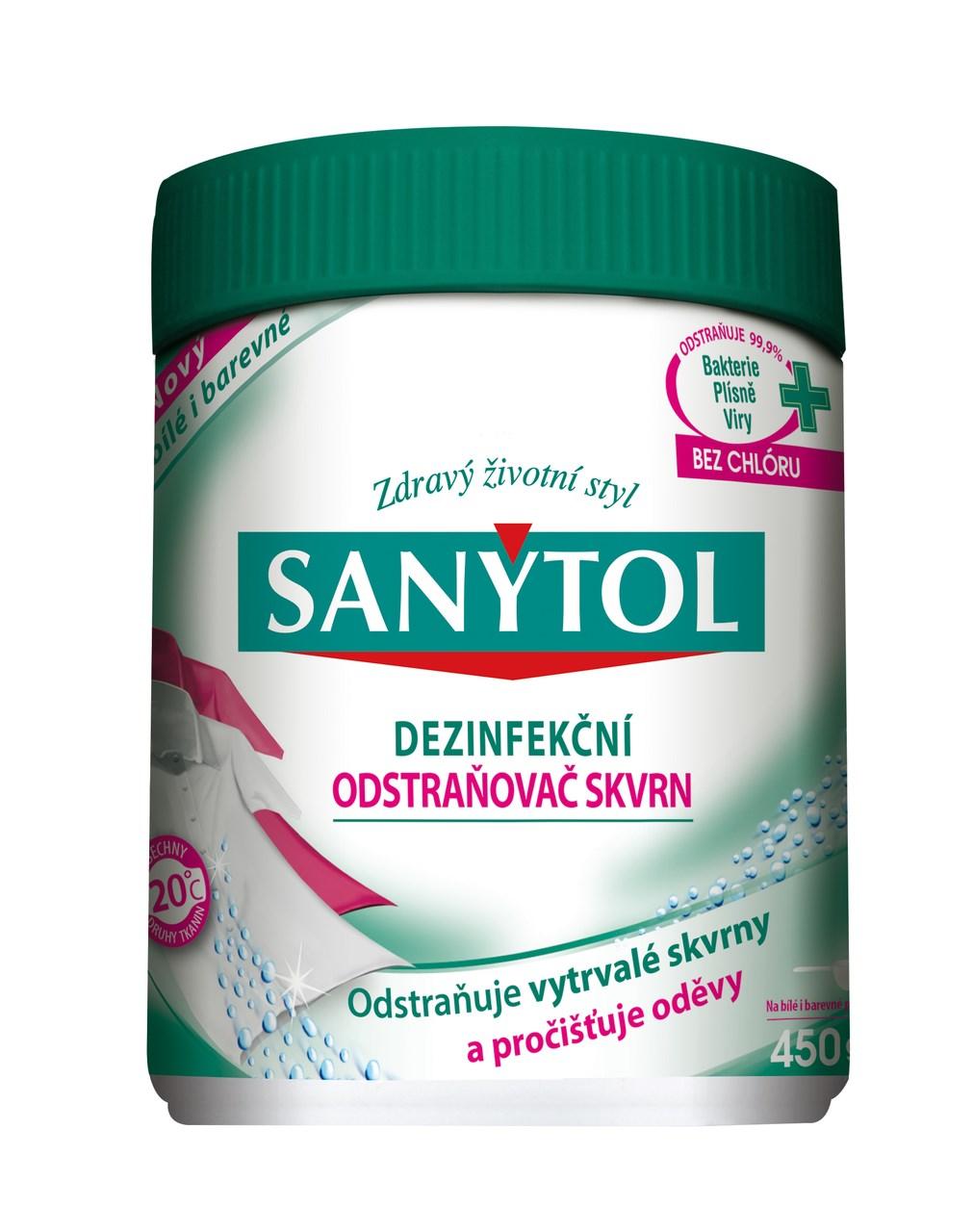 Sanytol dezinfekčný odstraňovač škvŕn 1x450 g