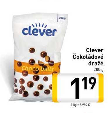 Clever Čokoládové dražé 200 g