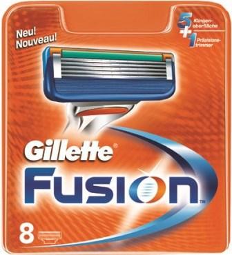 Gillette Fusion náhradná hlavica 1x8 ks