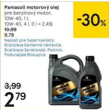 Pamasoil motorový olej, 4 l