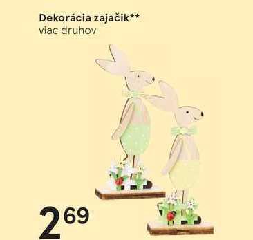 Dekorácia zajačik
