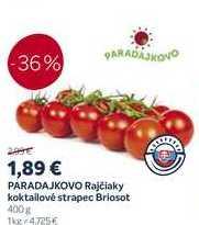 ARADAJKOVO Rajčiaky koktailové strapec Briosot, 400 g