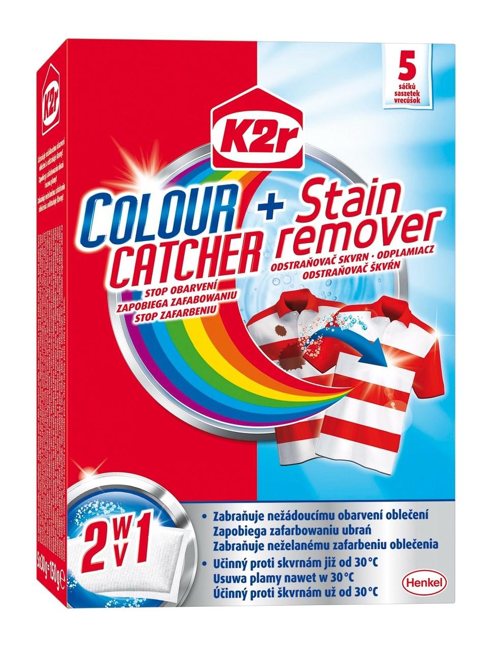 K2r Colour Catcher + Stain remover 1x5 ks