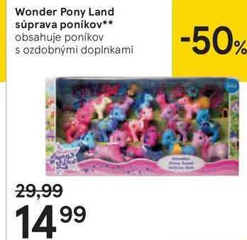 Wonder Pony Land súprava poníkov