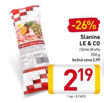 Le & Co slanina 250 g