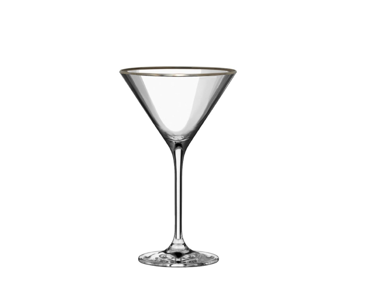 Poháre Platinum martini 210 ml 4 ks