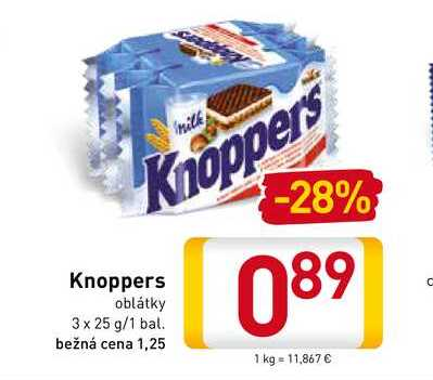 Knoppers  3x25 g