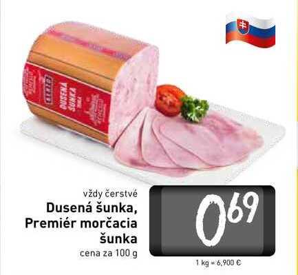 Dusená šunka  100 g