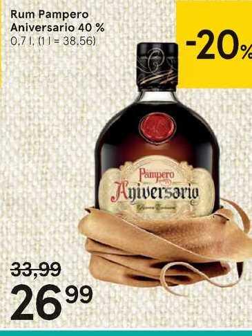 Rum Pampero Aniversario, 0,7 l