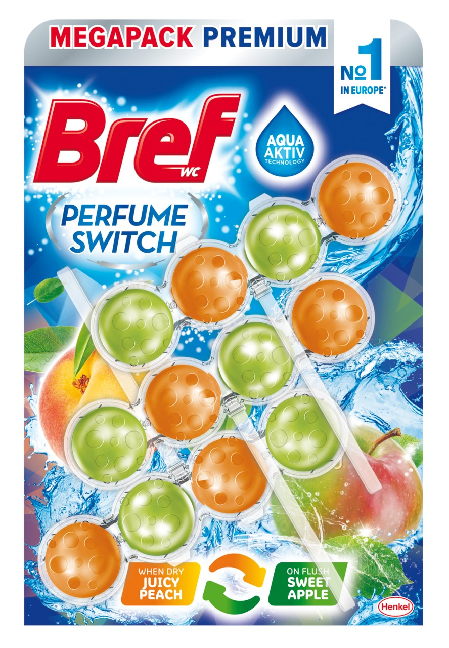 Bref Perfume switch Peach - Red Apple 3x50 g
