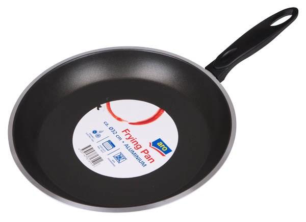 Panvica hliník 32cm čierna ARO 1ks