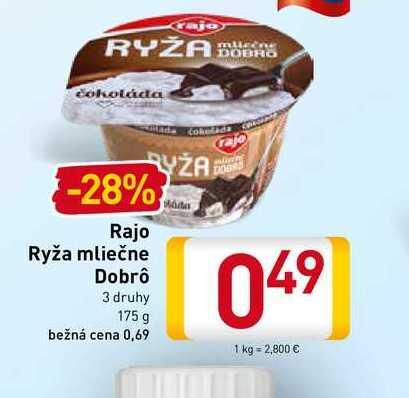 Rajo Ryža mliečne Dobrô 175 g