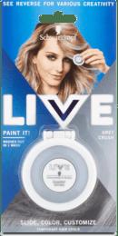 Zmývateľná krieda na vlasy Live Paint It! chladná sivá, 1 ks